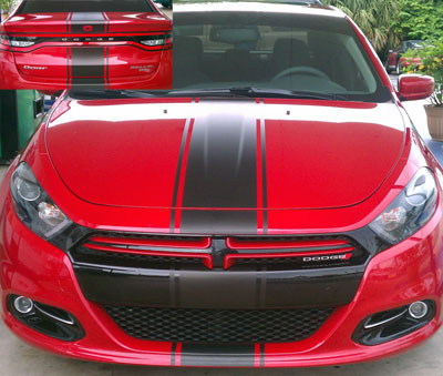 12 rally stripe stripes decals graphics fit 2013 dodge dart