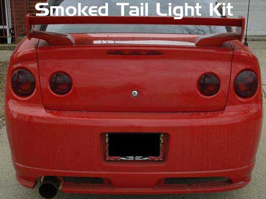 Chevy Cobalt Smoked Taillight Tail Light Film Tint Overlay Kit