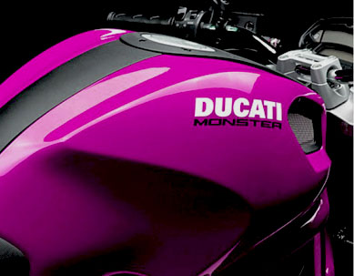 Ducati Monster Motorcycle Gas Tank Decals Graphics