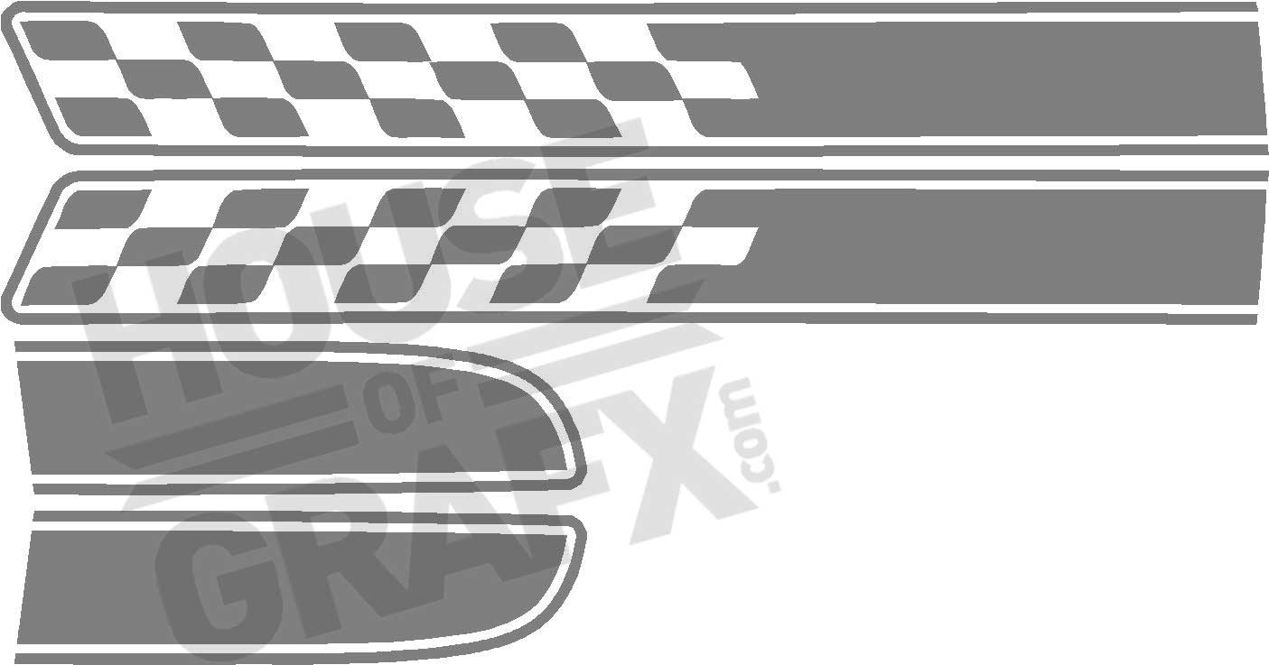 Racing Rally Stripe Graphics Decals Decal Fit 2011 2012