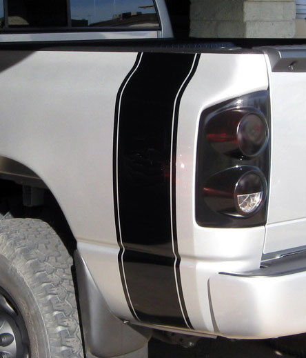 05 09 Dodge Charger Hood To Fender Hash Stripes Decal
