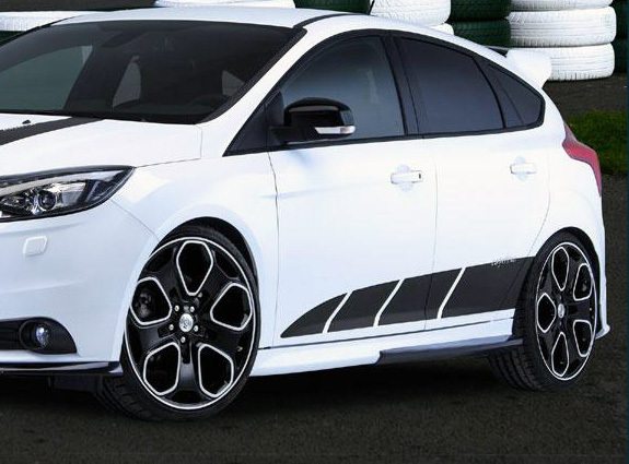 Vinyl Strobe Side Body Graphics Decals Fit Ford Focus