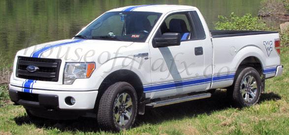 10 Center Amp Rocker Stripe Kit Fits Ford F150 250 Fx4