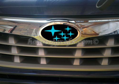 Emblem Overlay Vinyl Decal Graphic Fits 09 12 Subaru