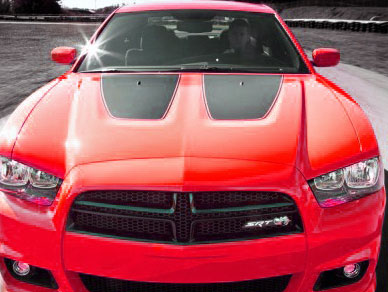 Fits or for Dodge Charger Hood Inserts 20112014 stripe factory decal graphic