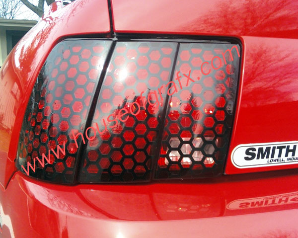 99 04 Honeycomb Honey Comb Mustang Tail Light Decal Decals