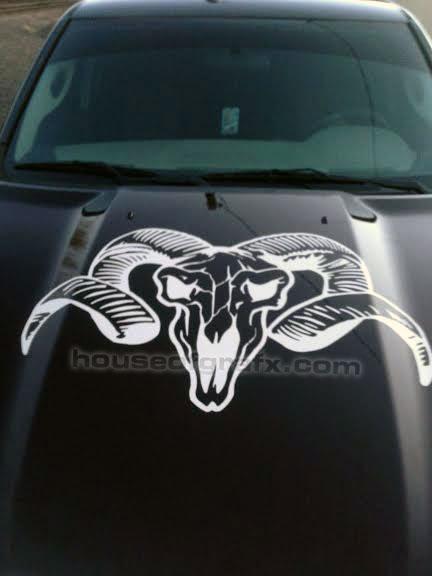 Universal Grim Reaper Skull Skulls Gun Car Truck Graphics