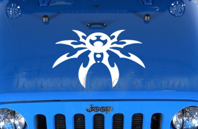 Spider Hood Decal Poison Graphic Fits Any Jeep Wrangler Or CJ - Jeep hood decalsgraphics for jeep wrangler hood decals and graphics www