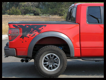Bed Graphics Decal Fit Ford Raptor Models F SVT - Truck bed decals customford fvinyl graphics for bed fender