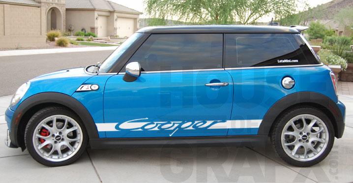 Carrera Style Side Body Stripe Stripes Graphic Fit Mini Cooper