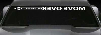 Move Over Racing Banner Decal For Any Vehicle Decals