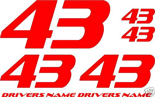 Race Car Numbers Decals Dirt Track Street Stock Decals