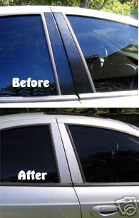 Neon SRT-4 SXT R/T vinyl door pillar decal overlays & Neon SRT-4 SXT R/T vinyl door pillar decal overlays [252-HOG ...