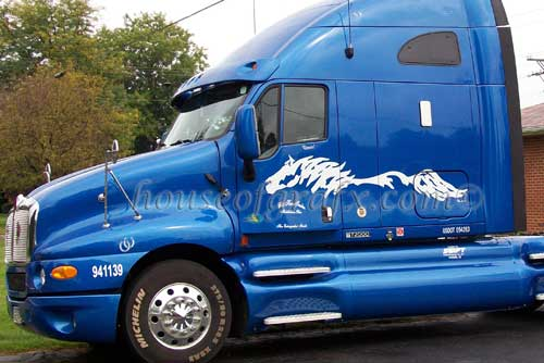 Side Body Horse Truck Trailer Semi Horses Decal Decals