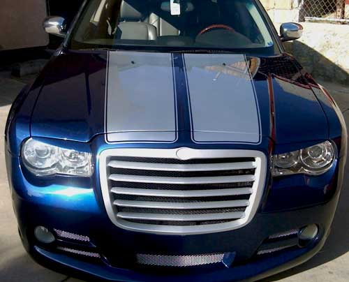 Silver Chrysler 200 >> Hood Stripes Graphics Decals fit ANY YR MODEL Chrysler 300
