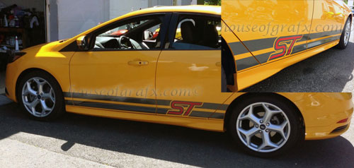 Two Color Rocker Stripe Graphic Decal Fits Ford Focus St