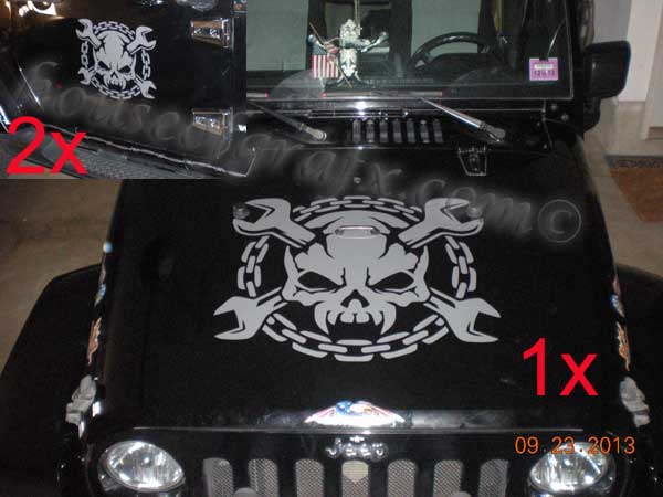 SKULLS  House Of Grafx Your One Stop Vinyl Graphics Shop - Custom vinyl car hood decals