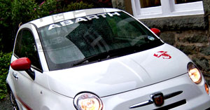 Windshield Visor Banner Decal Graphic Fits Fiat Abarth