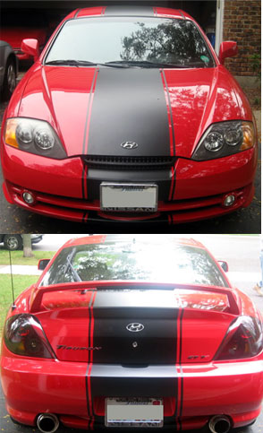 20 Racing Stripe Stripes Decals Fit Hyundai Tiburon