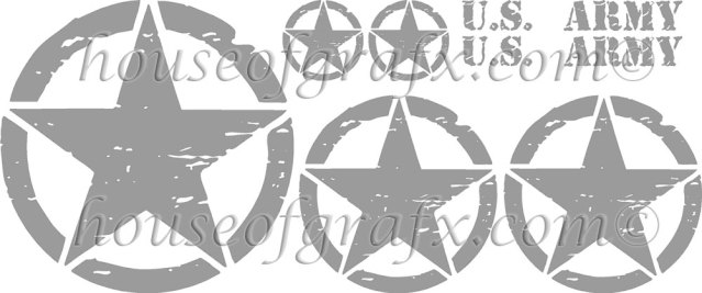 Distressed Star Zombie Decal Decals Kit Fit Jeep Wrangler