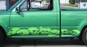SKULLS  House Of Grafx Your One Stop Vinyl Graphics Shop - Skull decals for trucks