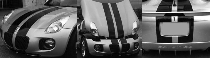 10 Racing Rally Stripes Decal Fits Satrun Sky Pontiac