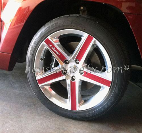 Vinyl Wheel Rim Decal Decals Fits Any Jeep Grand Cherokee Srt 8