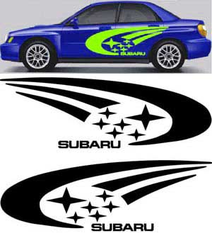 Subaru WRX STI Impreza legacy side body graphics decal decals