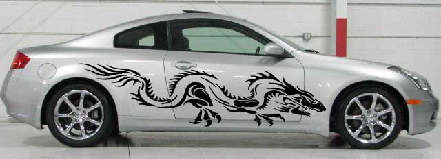 Dragon dragons car truck side body graphics decal decals d1