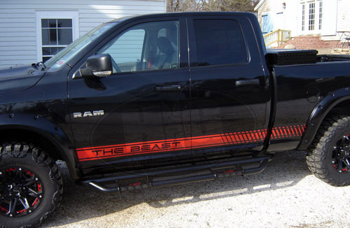 Universal Rocker Stripe Stripes Fit Dodge Ram Dakota Ford Toyota - Truck bed decals custombody graphicsdodge ram