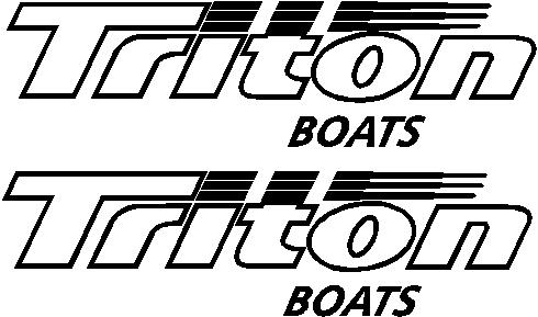 Boat Decal Decals Graphics Stickers Fit Triton Boats Grafx - Boat stickers and decals