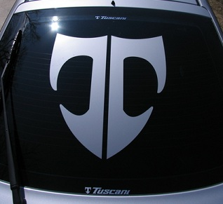 T Logo Decal Decals Graphic Vinyl Tuscani Fits Any Car
