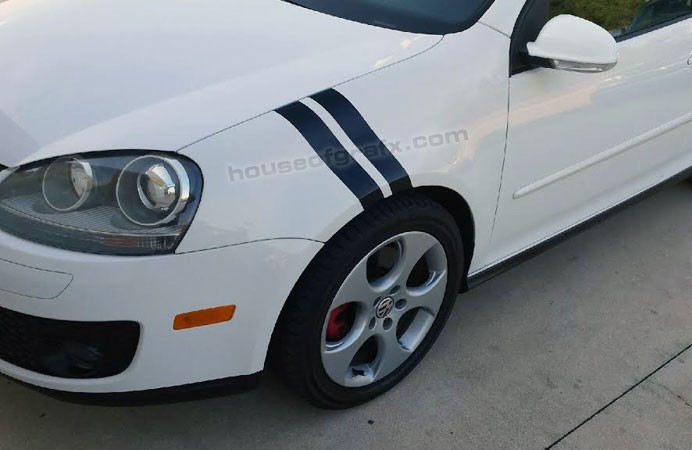7 volkswagen vw offset rally stripes racing stripe graphics
