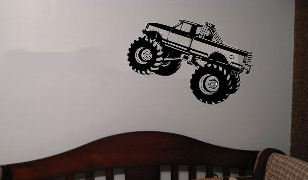 Childrens Monster truck kids boy boys wall art decal graphic [13 ...